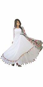 Raabta White Pom Pom Long Dress