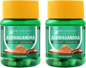 Dr. Vaidya's Ashwagandha Capsules-Immunity Enhancing Capsuels-30 Capsules( Pack of 2)
