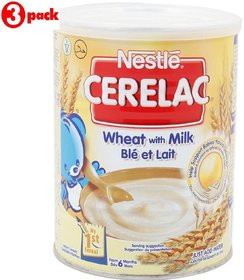 Nestle Cerelac Wheat With Milk - 400g (Imported) (Pack of 3)