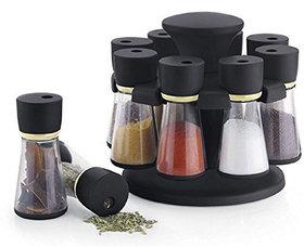 Silver Shine  Multi Purpose 8pcs  Spice Rack to Spice and Masala for Kitchen