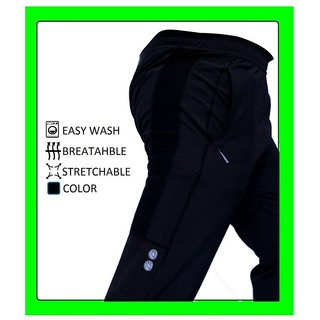 Black Football Design Dri-Fit Trackpants