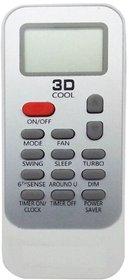 whirlpool 3d cool split ac remote control