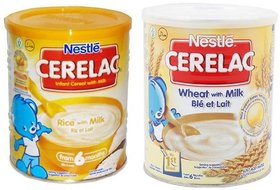 Nestle Cerelac Combo 400g (Pack of 2) Rice With Milk  Wheat With Milk