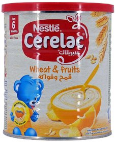 Nestle Cerelac Wheat & Fruits - 400g (Imported) (Pack of 6)