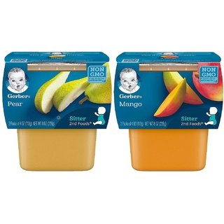 Gerber 2nd Foods for Sitter Combo (Pack of 2) - Mangos + Pears