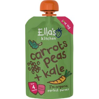 Ellas Kitchen Carrots Peas + Kale - 120g