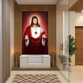 Ordershock Wall Sticker Jesus Christ Wall Stickers for Living Room, Bedroom, Office Jesus3