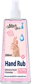 Mirah Belle - Hand Rub Sanitizer Spray (200 ML) - FDA Approved (72.9 Alcohol) - Best for Men, Women and Children