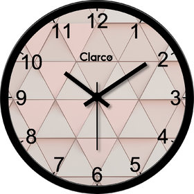 Clarco Designer Analogue Round Glass Wall Clock Size(30 cm x 30 cm x 4 cm)(WL_808L)