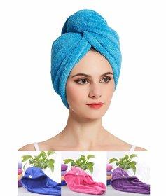 Microfiber Hair Wraps Magic Fast Dry Towel Cap Bath Head Wrap