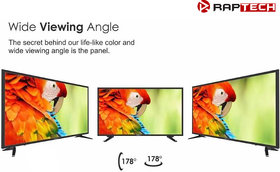 Raptech 80 cm (32 inches) HD Ready LED Smart TV 32HDXSMART Pro (Black) (2019 Model)