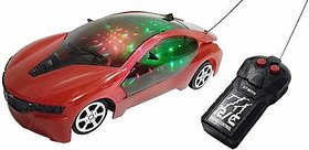 Remote Control Fast Modern Car with 3D Light  (multicolor)