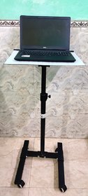 Sii Projector  Laptop Height Adjustable Trolley Projection Stand (4.5 feet Height)