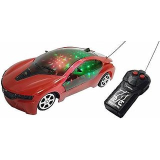 Wireless Remote Control Fast Modern Car With 3D Light For Kids multicolor