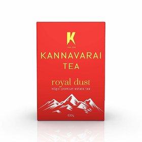Kannavarai Tea Royal Dust, Pack of 6 x 250 Grams (Total 1.5 KG)
