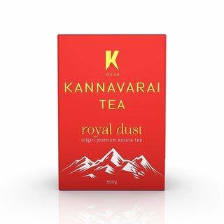 Kannavarai Tea Royal Dust, Pack of 4 x 250 Grams (Total 1 KG)