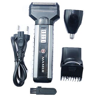 Maxel Multi functional Hair Clipper, Shaver, Trimmer and Nose Trimmer AK 952 Shaver For Men