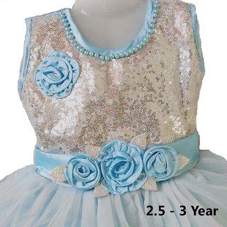 Kids Party Wear Frock Dress For Girl 2.5 - 3 Year Kids Frock