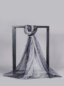 Welkin Accessories Grace printed silk blended scarf (Length : 180cm)