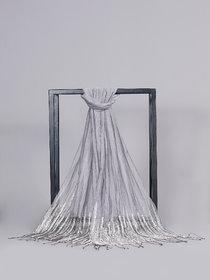 Welkin Accessories Zariwa Silk cotton metal scarf with beautiful embellishments (Length : 180cm)