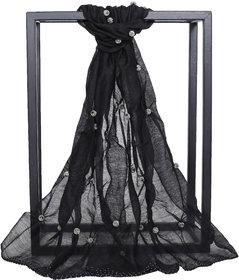 Welkin Accessories Sheen hand embellished woollen scarf (Length : 180cm)
