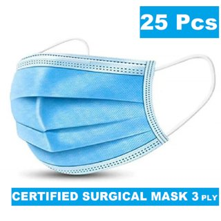 Medical Surgical Dust Face Mask Ear Loop Medical Surgical Dust Face Mask - Surgical Mask Pack of 25 - Flumask