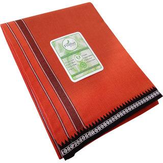 Feather Green  Kavi  Fancy border Cotton  Dhoti