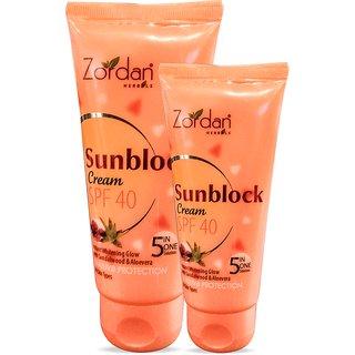 Zordan Herbals Sunblock Cream SPF 40 (60 g 2) Pack Of 2