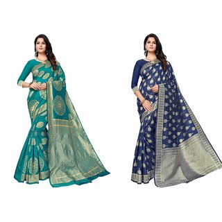 Combo Of Kota Silk Saree From Hc With Blouse