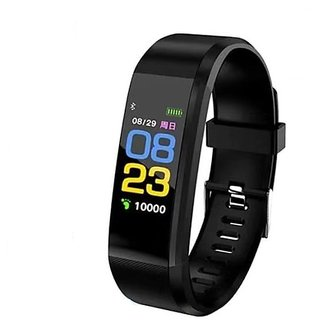 Fitness Band - Midnight Black  (Black Strap, Size  Regular) by TIITAN
