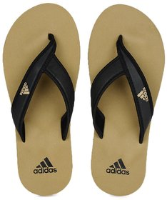 Adidas Men'S Adi Rio Khakhi Black Eva Flip Flops (Slippers)