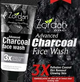 Zordan Herbals Active Charcoal Face Wash (60 ml 4) Pack Of 4