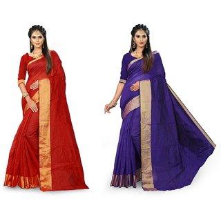 SVB Multicolour Art  Silk Saree With Blouse Piece