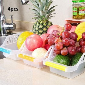 COLLISION Storage Box - Plastic Storage Box for Kitchen (Pack of 4)