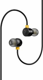 BASIC WIRED EARPHONES WITH MIC COMPATIBLE For All SMART  PHONES (Black)