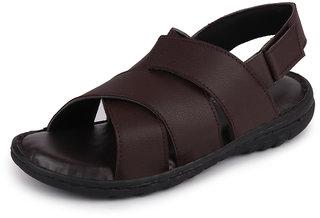 Fausto Men's Brown Roman Outdoor Sandals