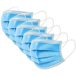 3 Ply Medical Surgical Dust Face Mask Ear Loop Medical Surgical Dust Face Mask - Surgical Mask Pack of 5 - Flumask