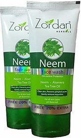 Zordan Herbals Neem Face Wash (120 ml x 2) Pack Of 2