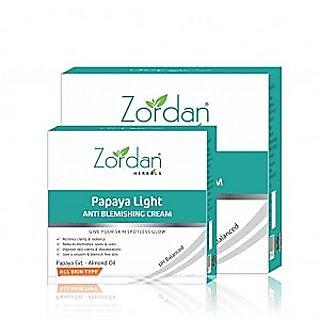 Zordan Herbals Papaya Light Anti Blemishing Cream (50 gm x 2) Pack Of 2