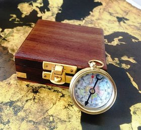 Vinatge Compass in Working Condition in Wooden Box