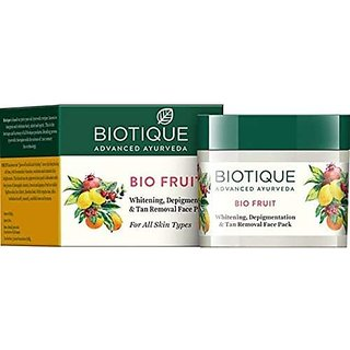 Biotique Bio Fruit Whitening And Depigmentation & Tan Removal Face Pack 75g