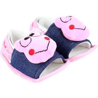 Neska Moda Unisex Sandal Booties For 6 To 12 Months (Pink)