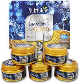 Nutriglow Platinum, Diamond  Gold Facial Kit Power of 3 In 1
