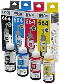 Original Epson Ink Bottles- Set of 4