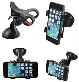 MPI Car Mobile Holder Double Clip -Maruti Suzuki-Alto 800- 1 PC  Black