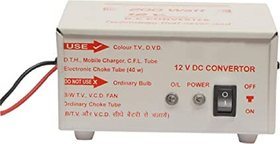 JAMUS High Power USB 12V DC to AC Converter 200 Watt Worldwide Adaptor  (White)