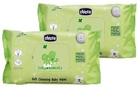 Chicco Baby Wipes Sticker 72 Pcs In  (2 Wipes)