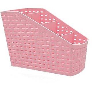 (Plastic Holder) Storage Box Desktop 4 Grid Sub-Grid Storage Case Remote Organisers- Storage Organizer