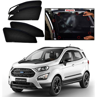 Zipper Magnetic Window Sunshade For Ford Ecosport (2017-Onwards) - Set Of 4