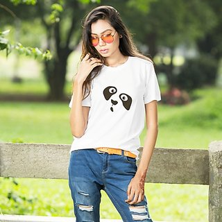 BRILL FEEL Women's Cotton Regular Fit Half Sleeves Round Neck Casual Wear T-Shirt